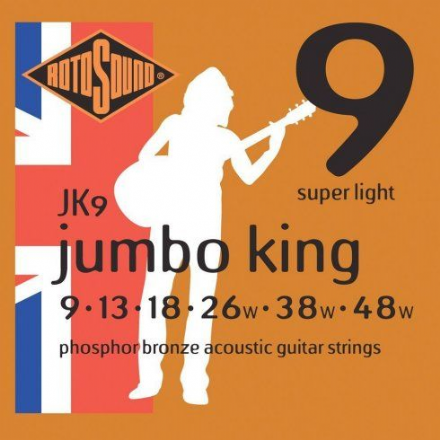 Rotosound JK9 Phosphor Bronze 9-48 Acoustic Guitar Strings